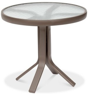 """Furniture Oasis Outdoor Aluminum 20"""" Round End Table, Created for Macy's"""