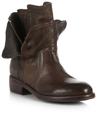 Vera Wang Ozita Motorcycle Leather Ankle Boots