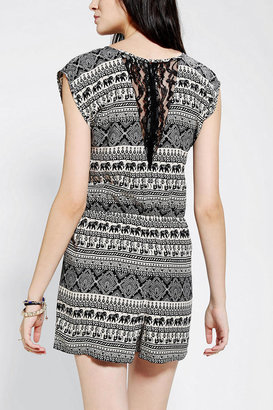 Urban Outfitters Staring At Stars Lace-Back Romper