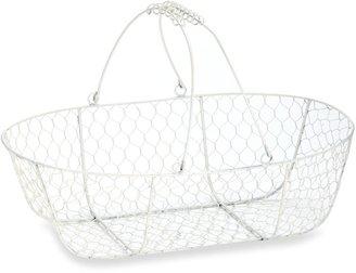 Glenna Jean Madison Wire Storage Basket in White