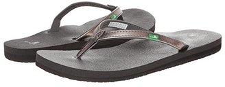Sanuk Yoga Joy Metallic (Pewter) Women's Sandals