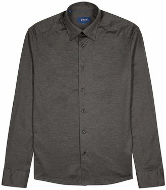 Eton Charcoal Cotton-jersey Shirt