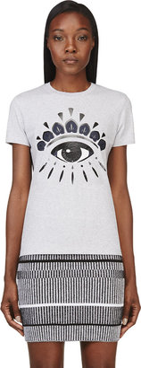Kenzo Grey Eye Print T-Shirt