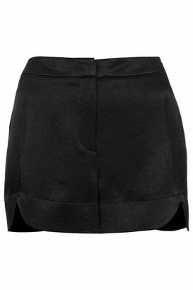 Topshop Satin scallop shorts