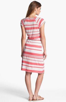 Nordstrom FELICITY & COCO Stripe Drawstring Jersey Dress Exclusive)