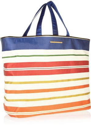 Stella McCartney Vanessa striped cotton beach bag