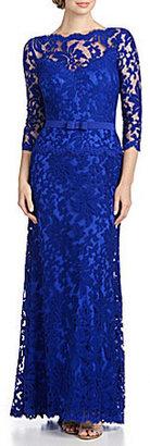 Tadashi Shoji Lace Illusion Gown $388 thestylecure.com