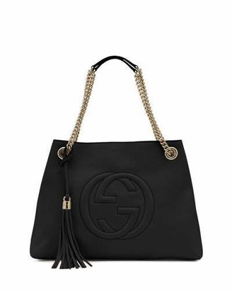 Gucci Soho Leather Chain-Strap Tote, Black $1,980 thestylecure.com