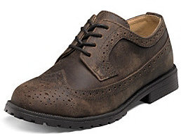 "Florsheim Boys' ""Valco Junior"" Wing-Tip Oxfords"