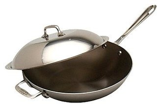 """All-Clad Stainless Steel 4qt 12"""" Chef's Pan w/ Domed Lid"""