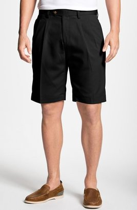 Men's Big & Tall Cutter & Buck Double Pleated Microfiber Twill Shorts $85 thestylecure.com