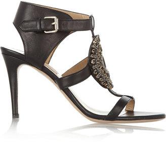 Valentino Crystal-embellished leather sandals