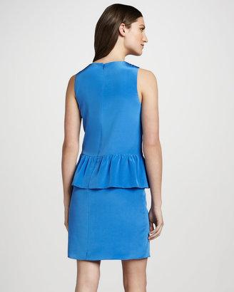 Tibi Sleeveless Peplum Dress