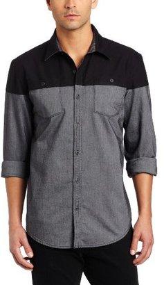 Calvin Klein Jeans Men's Colorblock Pieced Woven Shirt