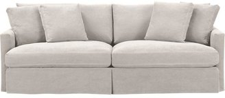 "Crate & Barrel Lounge Slipcovered 93"" Sofa"