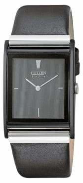 Citizen Men's Eco-Drive Black Crystal Watch