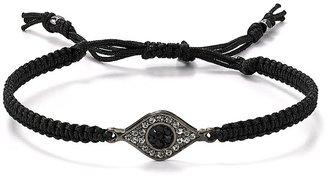 Tai Evil Eye Bracelet on Black Cord