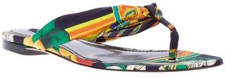 Dolce & Gabbana multi-coloured print sandal