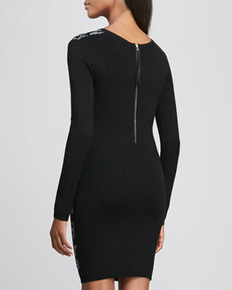 Nicole Miller Artelier Long-Sleeve Space Dye Knit Dress
