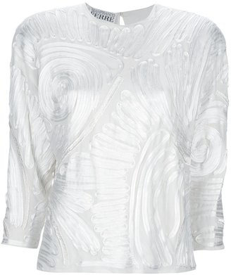 Gianfranco Ferre Vintage appliqued top