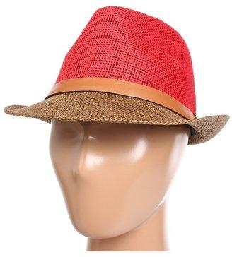 Gabriella Rocha Martine Two Tone Fedora (Red/Tan) - Hats