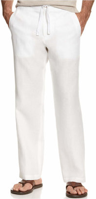 Tasso Elba Men's 100% Linen Drawstring Pants, Only at Macy's $69.50 thestylecure.com