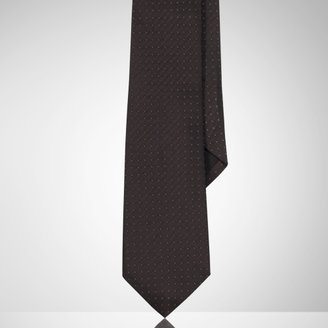 Ralph Lauren Black Label Carbon Fiber Dotted Tie