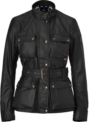 Belstaff Black Waxed Cotton Roadmaster Jacket