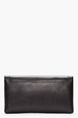 Marc Jacobs Black Leather The 1984 Jean Foldover Clutch