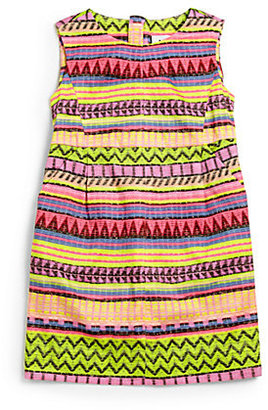Milly Minis Girl's Raffia Pleated Dress