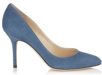 Jimmy Choo Gilbert Suede Round Toe Pumps