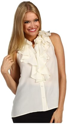 Cynthia Steffe Loretta Sleeveless Blouse (Light Cream) - Apparel