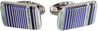 Paul Smith Silver/Blue Deco Cufflinks
