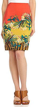 Vince Camuto Hawaiin Tropics Pencil Skirt