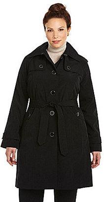 London Fog Woman Hooded Trench Coat