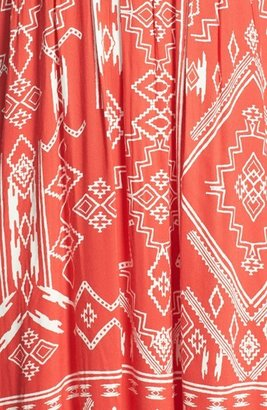 Billabong 'Dreamed of You' Print Bandeau Maxi Dress (Juniors)