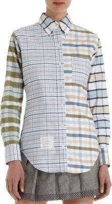 Thom Browne Patchwork Plaid Shirt