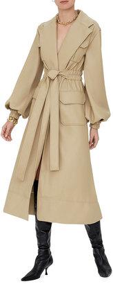 Alexis Hunter Vegan-Leather Trench Coat