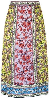 Alice + Olivia Athena Floral-print Midi Skirt