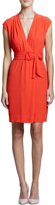 Kate Spade Villa Bow-Tie Waist Dress, Maraschino