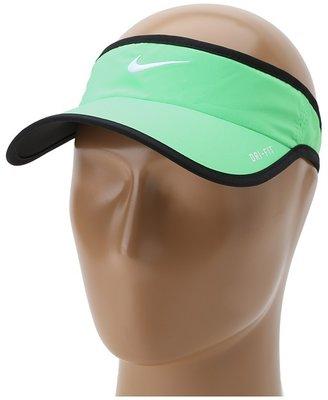 Nike Featherlight Visor (Poison Green/Black/White) - Hats