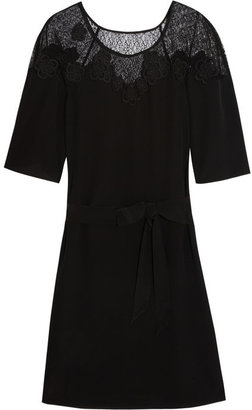 ALICE by Temperley Mini Kimi tulle-paneled silk dress