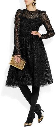 Dolce & Gabbana Floral appliqué lace dress