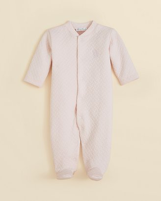 Kissy Kissy Infant Girls' Jacquard Footie - Sizes 0-9 Months
