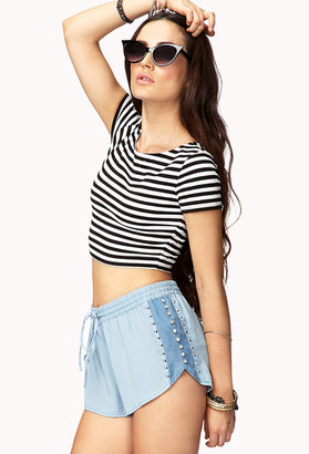 Forever 21 Standout Chambray Dolphin Shorts