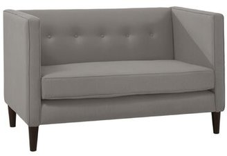 "Skyline Furniture 51"" Square Arm Loveseat Upholstery: Linen Grey"