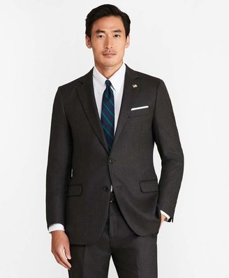 Brooks Brothers Fitzgerald Fit Saxxon Wool Herringbone 1818 Suit