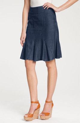 Nic+Zoe Nic + Zoe Seamed Denim Flirt Skirt