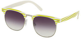 Topshop Striped clubmaster sunglasses
