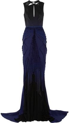 Zac Posen Cutout silk gown